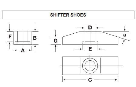 Shifter Shoe Diagram