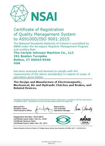 AS9001D Industrial Clutch, Brake Manufacturer   CJM